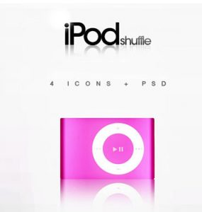 iPod Shuffle - 4 PSD icon PSD, Layered PSDs, iPod, Icons, Apple,