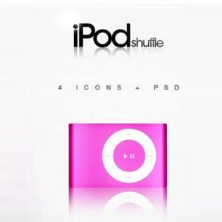 iPod Shuffle - 4 PSD icon