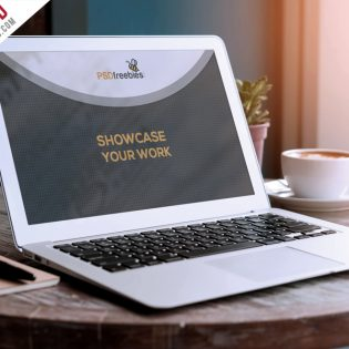 Macbook Air Mockup PSD Freebie