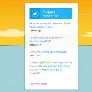Metro Twitter Feed Free PSD file