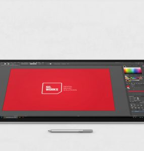 Microsoft Surface Studio Screen Mockup Free PSD