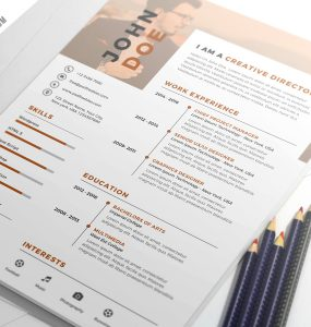Nice and Clean Resume CV PSD Template