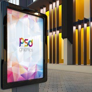 Outdoor Billboard Advertising Mockup Free PSD