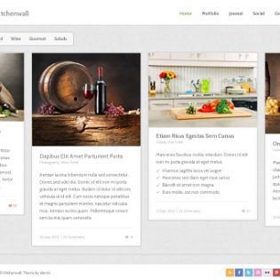 Kitchenwall Free PSD Template