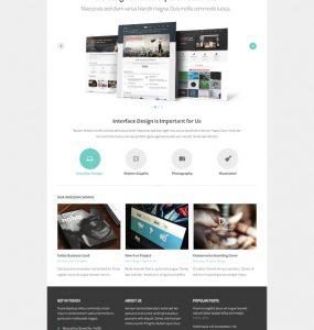 Seabird Free Homepage Free PSD file