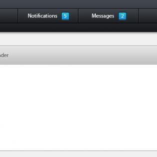 Pro Admin Interface PSD