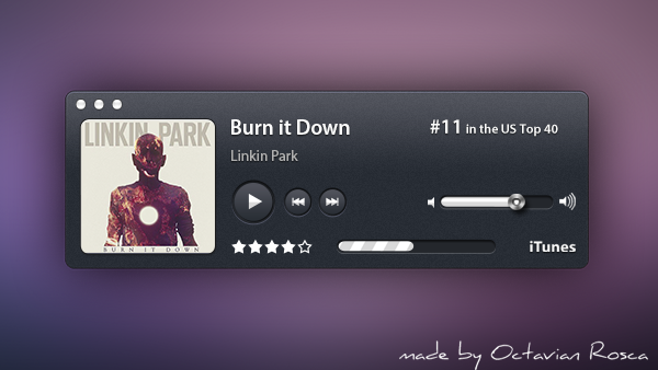 Dark Radio Audio Player PSD