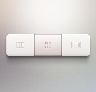 Segmented Control PSD File