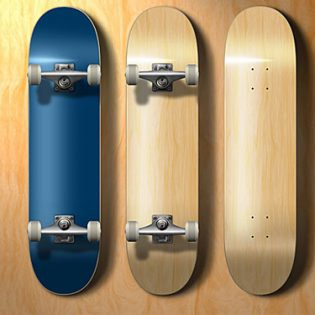 PSD Skateboard Template file
