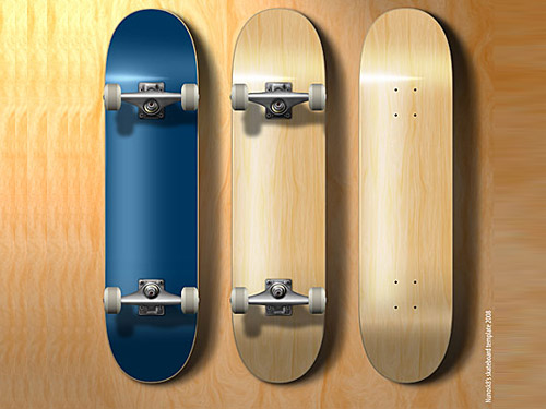 PSD Skateboard Template file Skateboard PSD Objects Layered PSDs