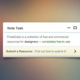 Tiny Note Free PSD