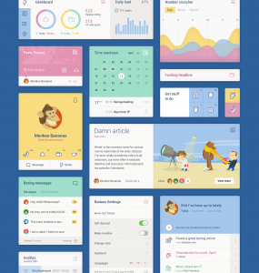 Unity Colorful Web Flat UI Elements Kit ui set, ui kit, UI elements, UI, settings app, set, metro, Kit, graph, free download, Free, Flat, Colorful, Calendar, blocks,