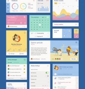 Unity Colorful Web Flat UI Elements Kit ui set ui kit UI elements UI settings app set metro Kit graph free download Free Flat Colorful Calendar blocks