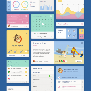 Unity Colorful Web Flat UI Elements Kit