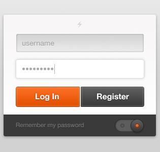 User Login Free PSD File