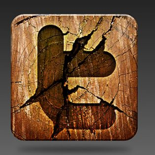 Wooden Social Media Icon PSD