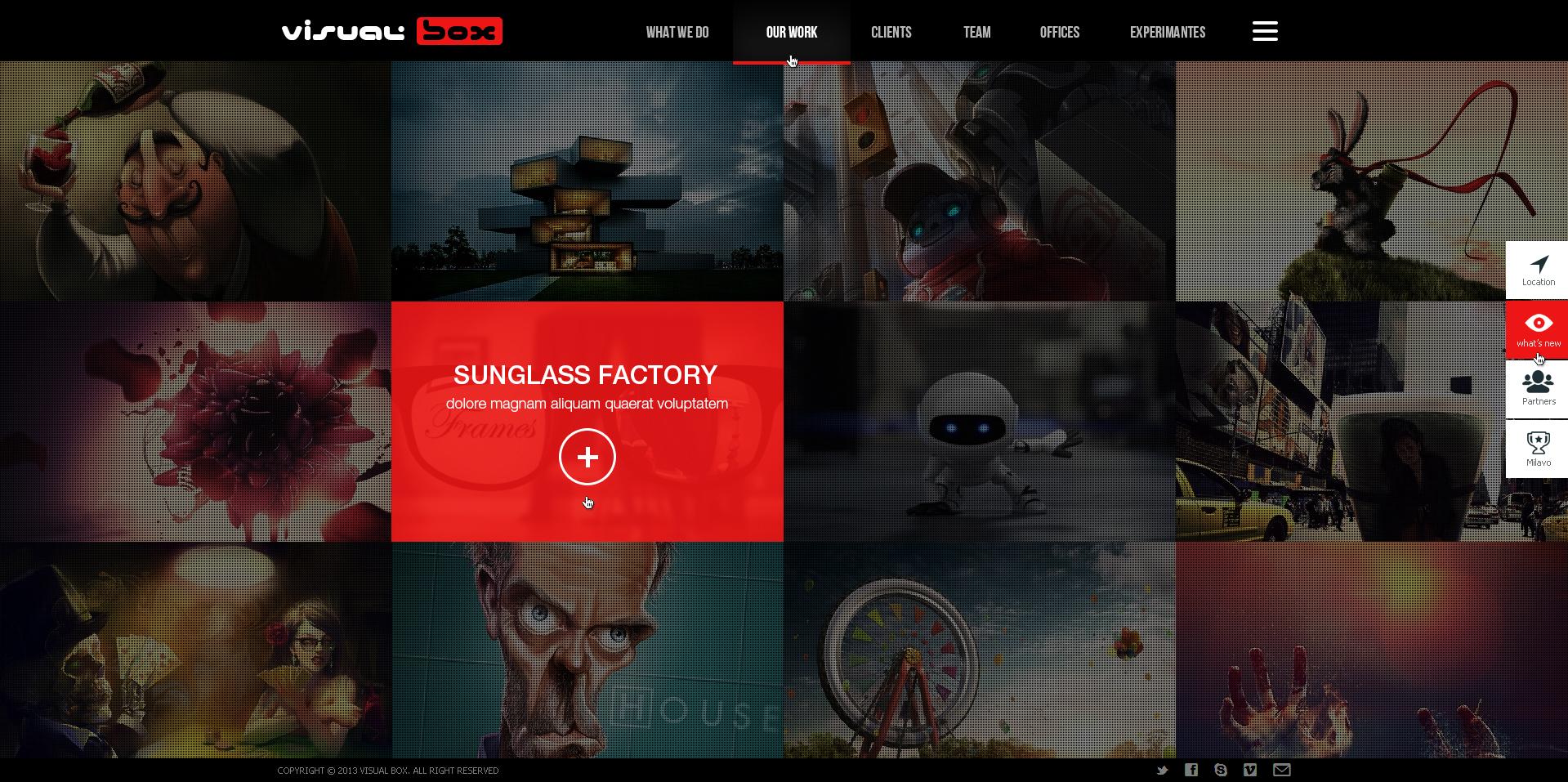 Digital Agency Website Template Free PSD